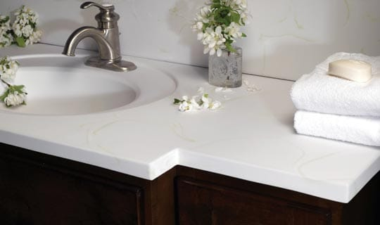 bath vanity tops - faux granite, cultured marble, terra bella