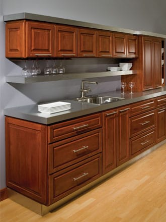 Stock kitchen cabinets stanford square bertch cabinets for Stock cabinets