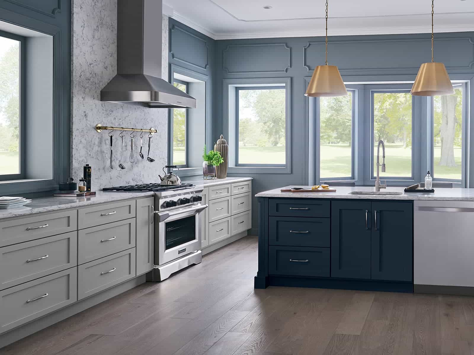 kitchens without upper cabinets - bertch cabinet manfacturing