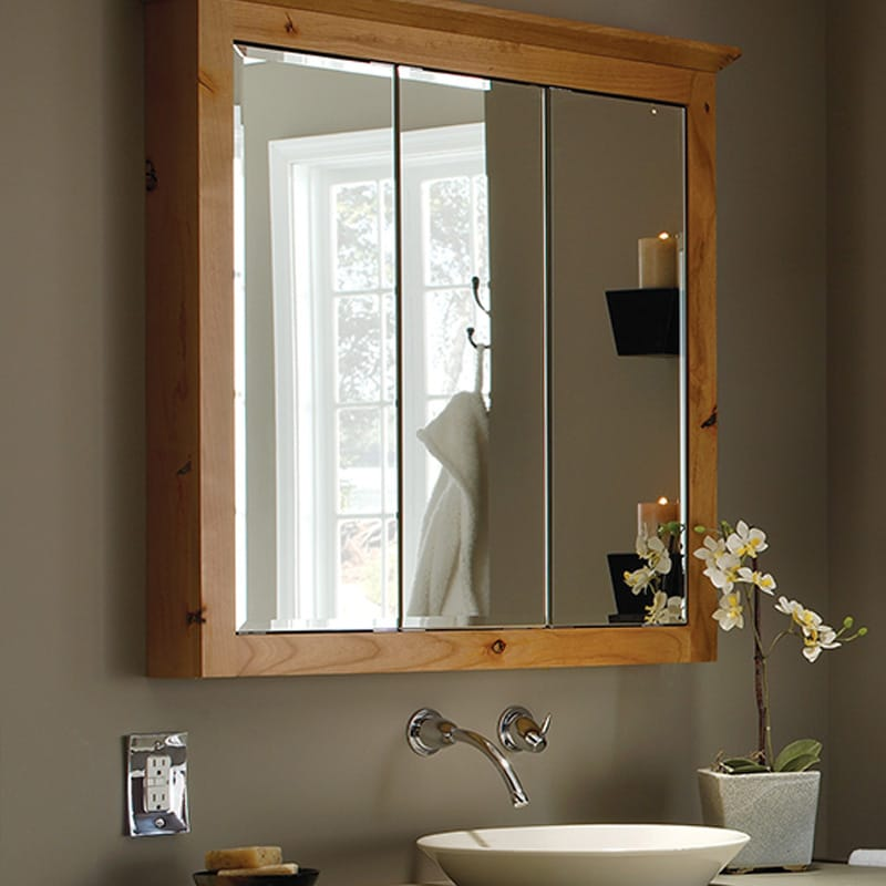 Tri View Medicine Cabinet Bathroom
