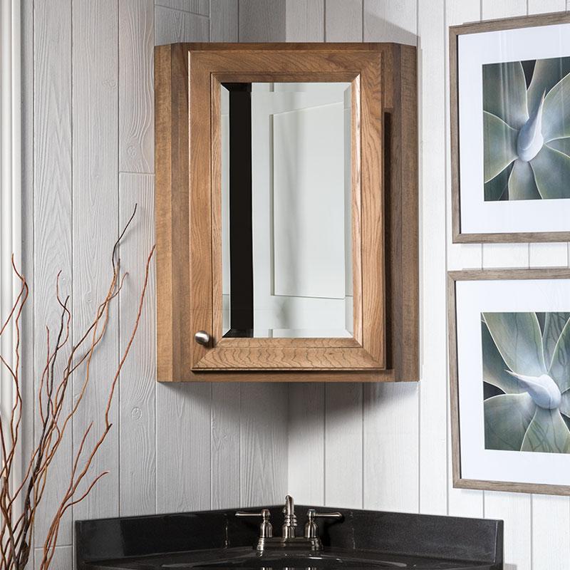 Corner Medicine Cabinet Bathroom Storage Bertch