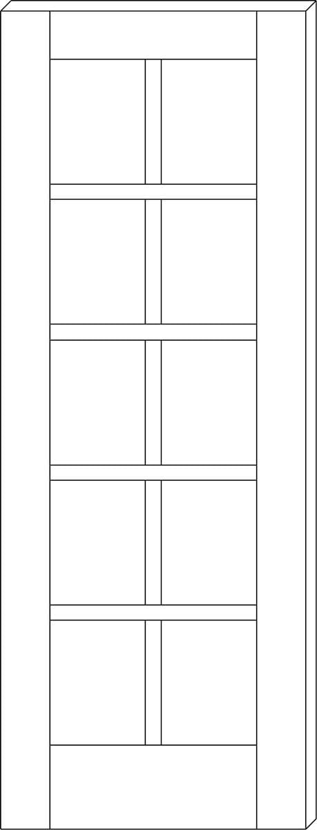 Bertch Door Style Option - French - Square
