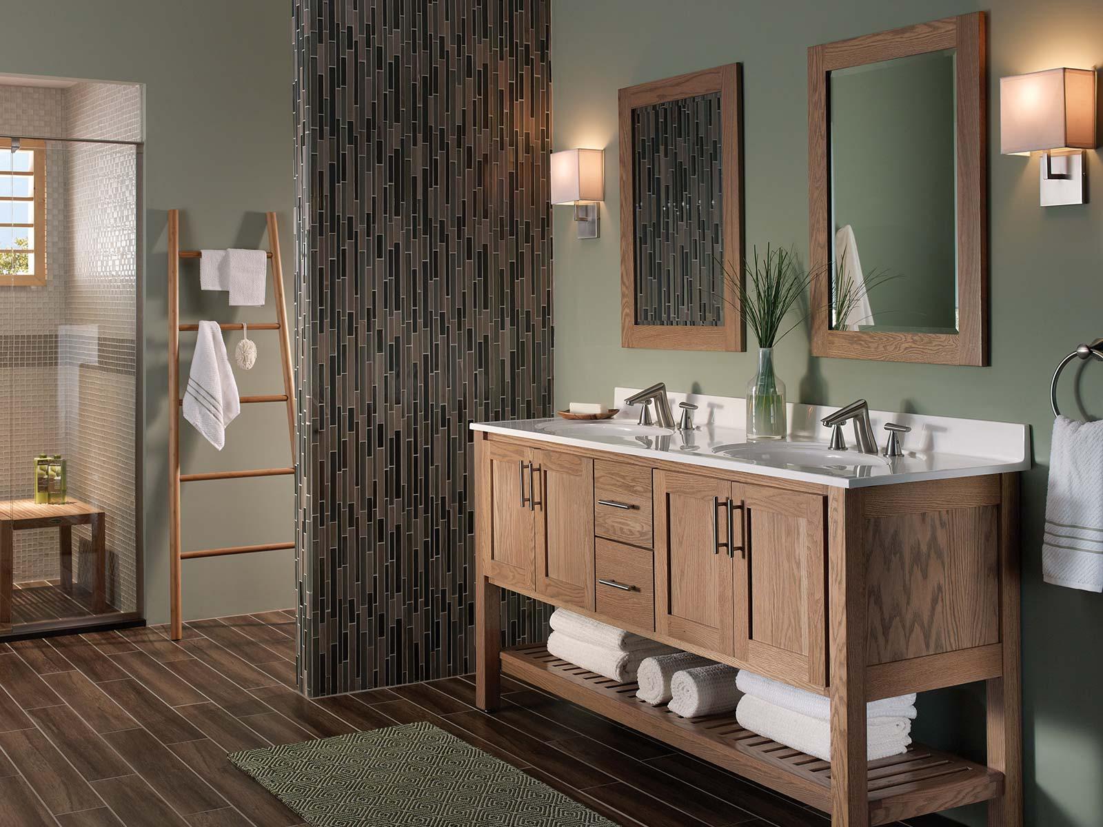 Interlude Driftwood Oak Bertch Cabinets