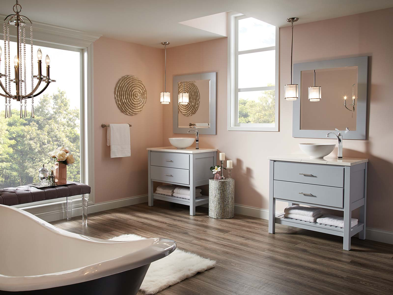 Spacious Room with Matching Vanities