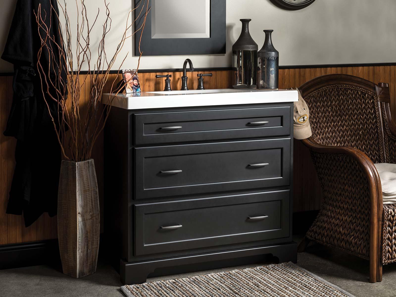 Northbrook Dresser Vanity - Black - Bertch Cabinets - Made ...
