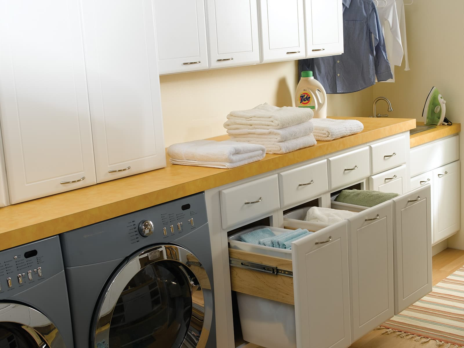 Bertch Laundry Room Concealed Drawers Organization