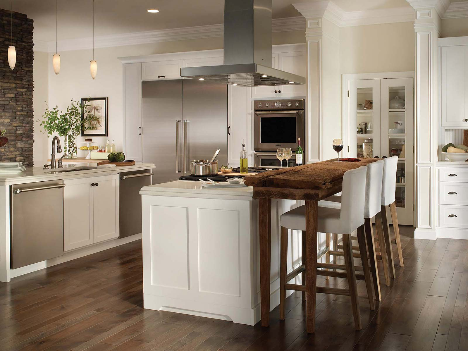 white kitchen cabinets versus wood colony 3 cabinet series bertch cabinet manufacturing 28962