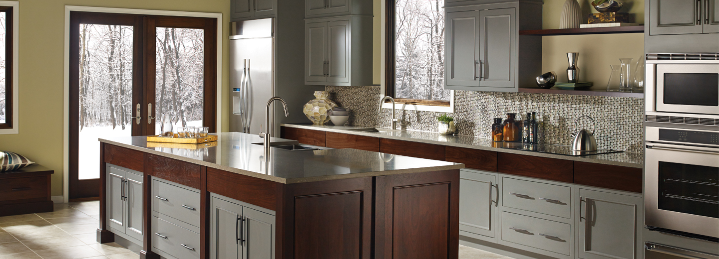 Bertch Cabinet Manufacturing, Graphite Color Kitchen Cabinets