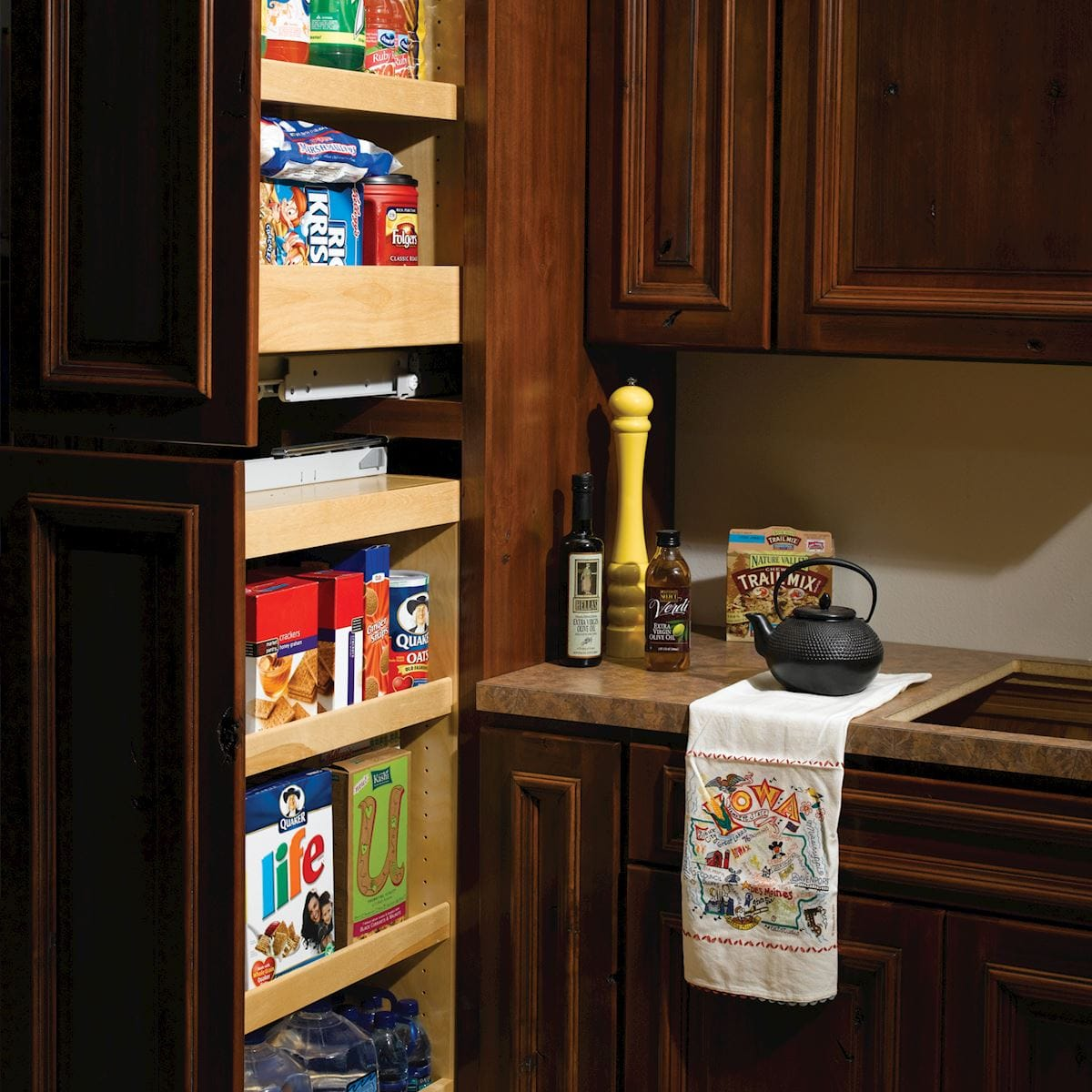 Tall Pullout Storage Accessories Bertch Cabinet