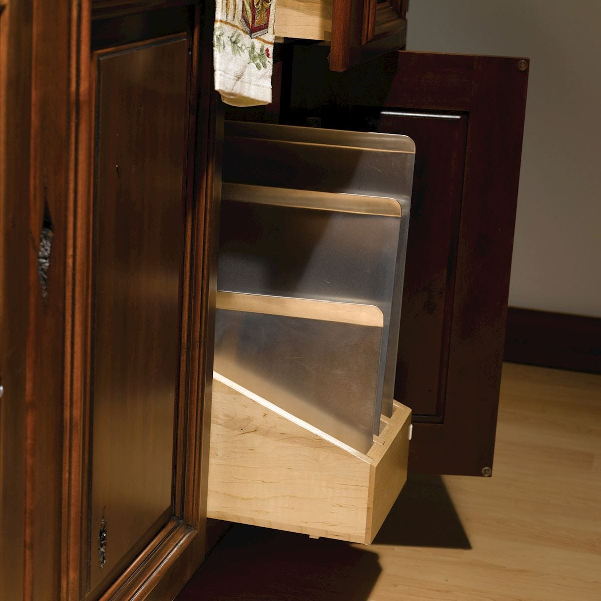 Tray Divider Rollout Accessories Bertch Cabinet Manufacturing
