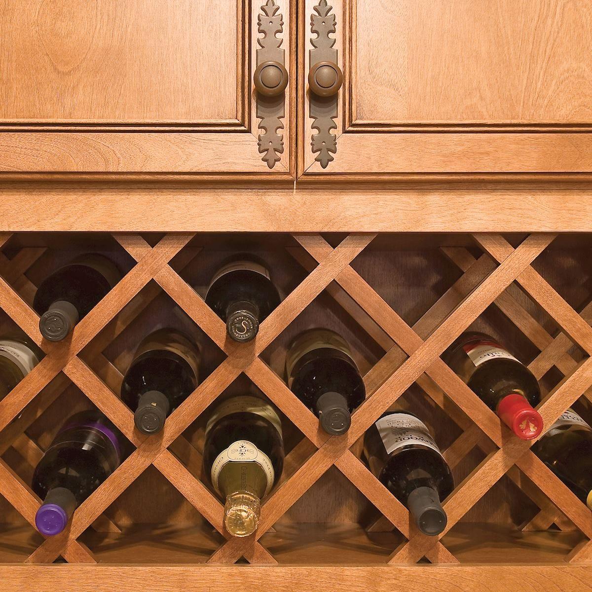 a4d46e9651 Wine Wall Combo (lattice style) - Accessories - Bertch Cabinet Manufac