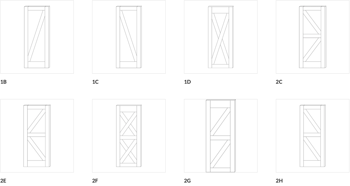 Farmhouse Door Configurations