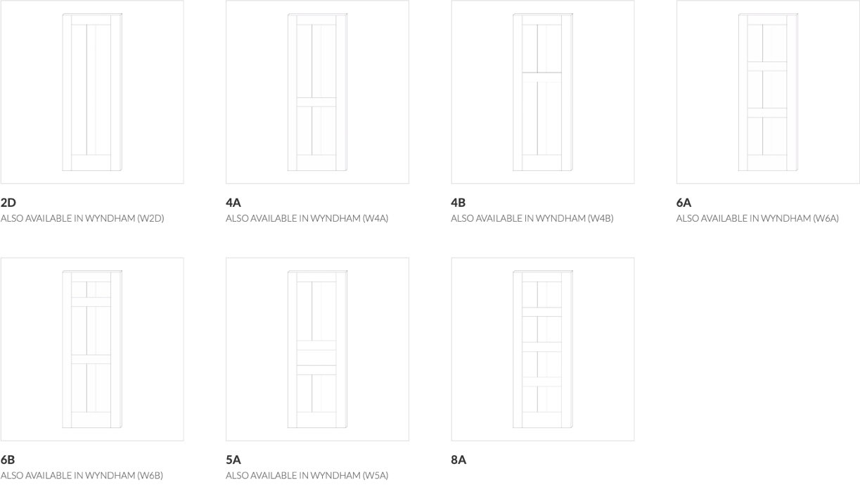 Traditional Door Configurations